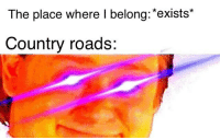 Dank Memes, Country, and  Place: The place where I belong: *exists*  Country roads: