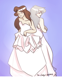 Children, Dumb, and Target: the-plague-doctors:  dumb doodle of my darling lesbian children!! getting married!!! (nyo!pruaus wedding AU)(inspired by dresses and models in this post)