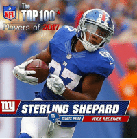 Anaconda, Memes, and Nfl: The  Plav  017  vers of  LU STERLING SHEPARD  E GIANTS PRIDE WIDE RECEIVER Will Sterling Shepard make this years NFL Top 100 list ?? GiantsPride 🏈