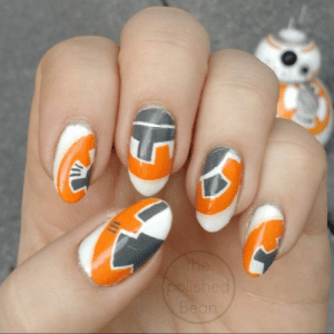 submit-your-nail-art:  Can't get over BB-8 : the  polished  Bean  45 submit-your-nail-art:  Can't get over BB-8