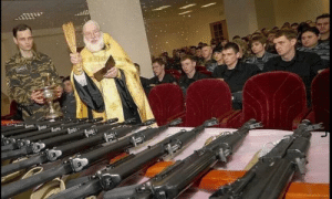 Pope Francis, The Pope, and Weapons: The Pope blesses the weapons used by the crusaders (circa 1096)