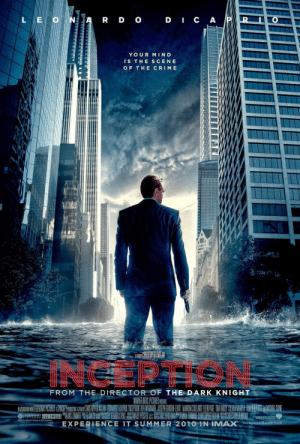 The popular movie, Inception, is actually a sequel to the movie Titanic. The opening shot shows a much older Leonardo DiCaprio washed up on a shore, and throughout the movie he has flashbacks of drowning. Nowhere in the movie is it revealed if he is officially dead or alive.: The popular movie, Inception, is actually a sequel to the movie Titanic. The opening shot shows a much older Leonardo DiCaprio washed up on a shore, and throughout the movie he has flashbacks of drowning. Nowhere in the movie is it revealed if he is officially dead or alive.