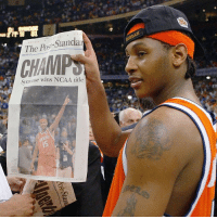 FBF Carmelo Anthony led his Syracuse team to the 2003 NCAA championship with a 81-78 win over Kansas! 🏀🏀💯: The Post-Standar  Syracuse wins NCAA title FBF Carmelo Anthony led his Syracuse team to the 2003 NCAA championship with a 81-78 win over Kansas! 🏀🏀💯