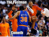 The Postman  ALL AC  Cometh  Kr KNICKS WIN! SHEED and his dominating post moves lead New York to a 7-1 record.  Hornets up next (brace yourselves... unibrow memes are coming) on Tuesday in New Orleans. -Tommy New York Knicks Memes
