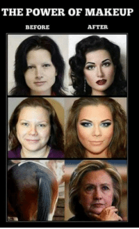 Makeup: THE POWER OF MAKEUP  BEFORE  AFTER