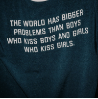 boys and girls: THE  PR WORLD HAS BIEGER  LEMS THAN BOYS  KISS BOYS AND GIRLS  WHO KISS GIRLS.  WHO