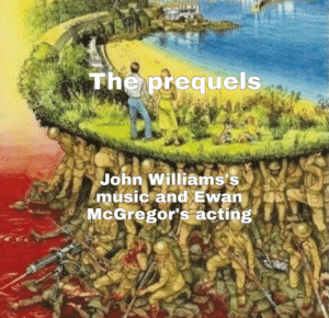 Let's be honest, they did most of the heavy lifting: The prequels  John Williams's  music and Ewan  McGregor's acting Let's be honest, they did most of the heavy lifting