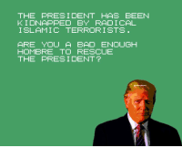 Bad Hombres Vs. DragonNinja: THE PRESIDENT HAS BEEN  KIDNAPPED BY RADICAL  ISLAMIC TERRORISTS  ARE YOU A BAD ENOUGH  HOMBRE TO RESCUE  THE PRESIDENT? Bad Hombres Vs. DragonNinja