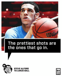 If you think Lonzo Ball's shot is ugly, think again. #BRmag http://ble.ac/2mFu2MF: The prettiest shots are  the ones that go in.  STEVE ALFORD  b/r  TO LONZO BALL  MAG If you think Lonzo Ball's shot is ugly, think again. #BRmag http://ble.ac/2mFu2MF