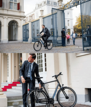 Netherlands, Job, and The Netherlands: The prime minister of the Netherlands arriving on his job. #dutchthings