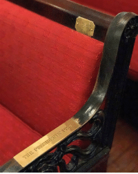 """Prior to the swearing-in ceremony on Friday, President-elect DonaldTrump and VP-elect MikePence will attend a service at St. John's Church. Pew 54 inside the church is permanently reserved for the nation's highest leader and is known as """"The President's Pew."""" Trump will sit here during the service before he is sworn in as President of the United States. 🇺🇸 To learn more about the incoming president's inauguration, check out our Instagram Stories! (Photo Credit: Alessandra Raffa) TRUMP45: THE Prior to the swearing-in ceremony on Friday, President-elect DonaldTrump and VP-elect MikePence will attend a service at St. John's Church. Pew 54 inside the church is permanently reserved for the nation's highest leader and is known as """"The President's Pew."""" Trump will sit here during the service before he is sworn in as President of the United States. 🇺🇸 To learn more about the incoming president's inauguration, check out our Instagram Stories! (Photo Credit: Alessandra Raffa) TRUMP45"""