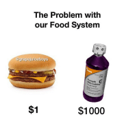 Food, Codeine, and Dank Memes: The Problem with  our Food System  @grapejuiceboys  ometh  With Codeine  igh Syrup  de  Loz (237 m  $1  $1000 This is something no one is speaking about 🤔