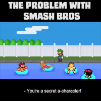 Still fun as hell.: THE PROBLEM WITH  SMASH BROS  You're a secret a-character! Still fun as hell.