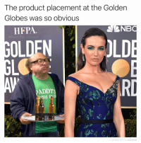 They aren't fooling anyone with this corporate branding bullshit 😤👌: The product placement at the Golden  Globes was so obvious  HFPA  NB  adam.the.creato  OLDEN  LD  PADDY  TH MOMUS They aren't fooling anyone with this corporate branding bullshit 😤👌
