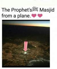 Memes, The Prophet, and 🤖: The Prophet's Masjid  from a plane
