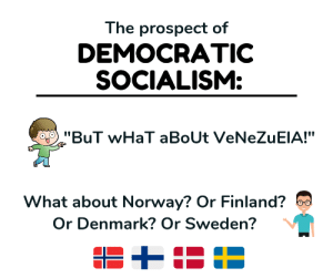 Tumblr, Work, and Blog: The prospect of  DEMOCRATIC  SOCIALISM:  10  What about Norway? Or Finland?  Or Denmark? Or Sweden? rockytop-liberty:    The Nordic countries pretty much have a capitalist free market system with heavy government ownership of natural resource extraction. All saddled with a massive redistributionist welfare state that requires massive tax rates on everyone to support. It kinda worked for a while due to a mostly homogeneous culture with a strong work ethic. But now it is beginning to crumble from it's own weight and economic realities.No country ever got wealthy through socialism. They all got wealthy through capitalism and then adopted socialist structures and are losing that wealth.   More details:  https://fee.org/articles/the-myth-of-scandinavian-socialism/