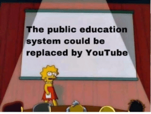 Replaced: The public education  system could be  replaced by YouTube