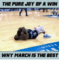 Memes, Rhode Island, and 🤖: THE PURE JOY OF A WIN  WHY MARCH IS THE BEST Rhode Island clinched a spot in the tournament by taking the Atlantic 10 title. There's no feeling like going dancing.