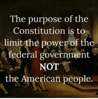 America's Freedom Fighters: The purpose of the  Constitution is to  limit the power of the  federal government  NOT  the American people America's Freedom Fighters