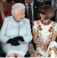 The Queen has always been a dedicated follower of fashion and proved it today with a surprise visit to London Fashion Week. Sitting beside Vogue's Anna Wintour, the Queen enjoyed Richard Quinn's runway show before presenting the designer with a special award. 👑 fashion queen royalfamily LFW2018 clothes bbcnews @londonfashionweek: The Queen has always been a dedicated follower of fashion and proved it today with a surprise visit to London Fashion Week. Sitting beside Vogue's Anna Wintour, the Queen enjoyed Richard Quinn's runway show before presenting the designer with a special award. 👑 fashion queen royalfamily LFW2018 clothes bbcnews @londonfashionweek