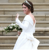 At-St, Cara Delevingne, and Family: The Queen's granddaughter, Princess Eugenie has married Jack Brooksbank at St George's Chapel in Windsor. Tap the link in our bio to find see the highlights (and the bits you might have missed) from their big day. They were watched by the members of the royal family, including the Queen and Prince Philip, along with celebrities, including @caradelevingne, Naomi Campbell and @robbiewilliams. Princess Eugenie's dress was designed by Peter Pilotto and Christopher De Vos, who founded British label Peter Pilotto. PHOTOS 1: EPA-Neil Hall 2: Princess Charlotte and Prince George, Steve Parsons-PA Wire, 3: Cara delevingne Gareth Fuller-PA Wire, 4: Naomi Campbell Gareth Fuller-PA Wire, 5: Robbie Williams Aaron Chown-PA Wire, 6: St George's Chapel: Jonathan Brady-PA Wire, 7 Danny Lawson-PA Wire 8: EPA-Vickie Flores 9: Andrew Matthews-PA Wire RoyalWedding royalfamily uk windsorcastle bbcnews