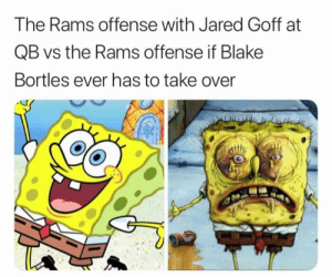 blake bortles: The Rams offense with Jared Goff at  QB vs the Rams offense if Blake  Bortles ever has to take over  心
