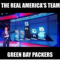 Memes, Packers, and The Real: THE REAL AMERICAS TEAM  NFL HISTU  IN DYNASTY NANT RSTEELERS  PATRIOTS  GREEN BAY PACKERS We all know the truth, Jerry and Cowboys can try and spin it anyway they want but the truth prevails.  #GoPackGo #AmericasTeam