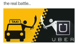laughoutloud-club:  In Argentina, an uber driver runs over a taxi driver: the real battl...  TAXI  U B E R laughoutloud-club:  In Argentina, an uber driver runs over a taxi driver