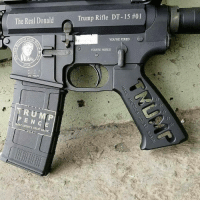 """The Real Donald  2016  Trump Rifle DT-15 #01  YOU'RE FIRED  YOU'RE HIRED #Trump supporters be like """"I got mine."""""""