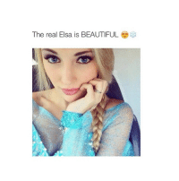 pretty sexualising: The real Elsa is BEAUTIFUL pretty sexualising