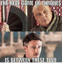 Game of Thrones, Memes, and Game: THE REAL GAME OF THRONES  WORLD  IS BETWEEN THESE TWO Double-Tap if you agree! . varys petyrbaelish littlefinger conlethhill aidangillen gotmemes gameofthronesmemes gameofthronesfamily gameofthroneshbo got gameofthrones