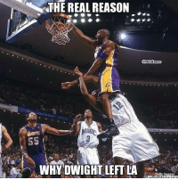 Meme, Nba, and Http: THE REAL REASON  ONBAHumor  Lod  LONG DISTANCE  SS  WHY DWIGHT LETLA  Getty hmages Why real reason why Dwight left the LakeShow! Credit: Steven Tufaro  http://whatdoumeme.com/meme/v4hpq1