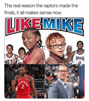 😮😮😮😮: The real reason the raptors made the  finals, it all makes sense now.  LIKEMIKE  RTO 😮😮😮😮