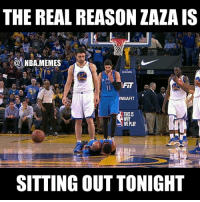 """Nba, Hmm, and Zaza: THE REAL REASON ZAZA IS  NBA MEMES  NBAFIT  THISIS  WE PLAY  SITTING OUT TONIGHT Haha Zaza is scared 😂😂 After this happened the last time these two teams played, Westbrook said he'd get Zaza back, & he's conveniently """"injured"""" the next time they play 🤔 hmm sounds a little suspicious jkjk 😂 Double tap and tag some friends below! 👍⬇"""