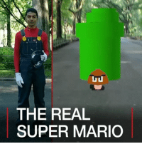 Memes, Microsoft, and Nintendo: THE REAL  SUPER MARIO 23 JUN: Super Mario fan Abhishek Singh was testing out the Microsoft Hololens headset when he came up with the idea to recreate one of his favourite games. He says he grew up playing Mario and all the memories came rushing back to him. Find out more: bbc.in-supermario SuperMario @nintendo Gaming AugmentedReality BBCShorts BBCNews @BBCNews