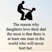 Dad, Love, and Memes: The reason why  daughters love their dad  the most is that there is  at least one man in the  world who will never  hurt her.
