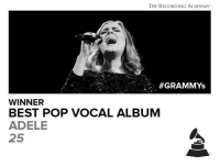 Congrats Adele: THE RECORDING ACADEMY  GRAMMYs  WINNER  BEST POP VOCAL ALBUM  ADELE  25 Congrats Adele
