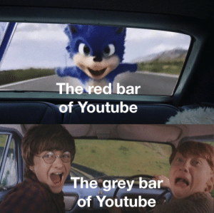 It do be like that sometimes: The red bar  of Youtube  The grey bar  of Youtube It do be like that sometimes