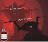 Cross, Red Cross, and Blood: the Red Cross  470mt of my blood  me  whole blood Donate blood, save lives! via /r/wholesomememes https://ift.tt/2C9Agvv