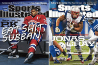 The Relentlessly Resourceful Brilliance ofthe New England Patriots  Auburn-Alabama: The Heartbreak, One Year Later  tS  Spor  ed  Maurice... Jean... Guy...  lanc  rse  ONNAUS  SUTAAN  Brilliance ofthe  New England Patriots PK Subban got bumped from US edition of SI for Patriots Jonas Gray. Thats pissa. Article here