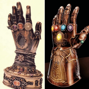 Infinity, Catholic, and Gauntlet: The relic of the hand of Saint Teresa of Avila on the left, the Infinity Gauntlet on the right... try unseeing this.
