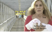 Family, Irl, and Me IRL: the rest of  tamily  me  family sized  bag of doritos Me irl
