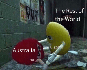 me irl by Means-of-production MORE MEMES: The Rest of  the World  u good?  Australia  no me irl by Means-of-production MORE MEMES