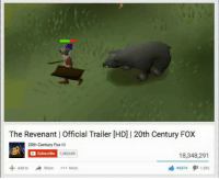 Stolen content but who cares: The Revenant official Trailer (HD) I 20th Century Fox  20th Century Fox  Subscribe  1380,688  18,348,291  Add to  44 874  1.28s  Share  More Stolen content but who cares