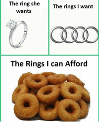 The Ring, Relatable, and Sec: The ring sheThe rings I want  wants  OLN  The Rings I can Afford And then ill end up eating the rings 👉Swipe comment & like 😏 - Follow @hoodcumedy in 3 sec 4 goodluck 😡