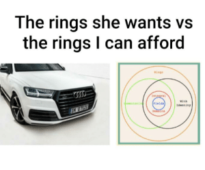 That's all I can afford: The rings she wants vs  the rings I can afford  Ninga  Integral  with  dommutativ  Fielda  Identity  IN 07020  Domaina That's all I can afford