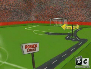 The Robben street!   Happy birthday Arjen Robben.  (📷: @ZEZO_CARTOONS) https://t.co/xuXQMquPou: The Robben street!   Happy birthday Arjen Robben.  (📷: @ZEZO_CARTOONS) https://t.co/xuXQMquPou