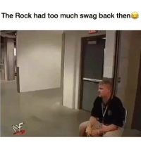 Funny, Swag, and The Rock: The Rock had too much swag back then How it feel to be a real nigga @larnite • ➫➫➫ Follow @Staggering for more funny posts daily!
