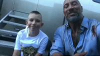 "Life, The Rock, and Movie: The Rock meets with a young fan who saved his little brother's life with something he learned in the movie ""San Andreas"" 🙏💯 @TheRock https://t.co/vDZTZ3Fj1Q"