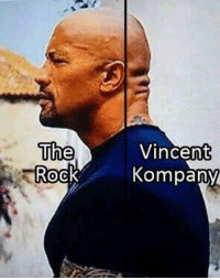 The Rock and Vincent Kompany.: The  Rock  Vincent  Kompany The Rock and Vincent Kompany.